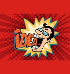 idea and man the joyful businessman vector image