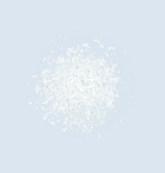 abstract explosion cloud of white pieces on light vector image vector image