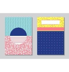 Abstract modern flyers brochure A4 design vector image