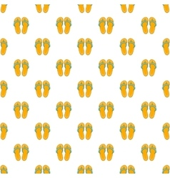 Flip flops pattern cartoon style vector image