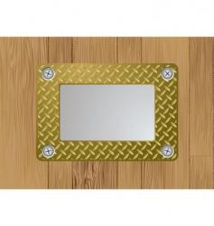 gold metal plaque vector image vector image