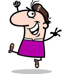 happy man cartoon vector image vector image