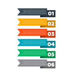infographics elements six steps process vector image vector image