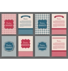 set of invitations vector image