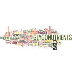 glyconutrients how much to take text background vector image