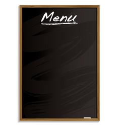 menu blackboard vector image vector image
