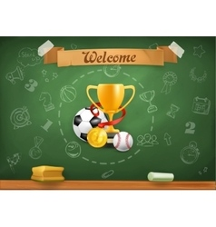 School sports infographics background vector image vector image
