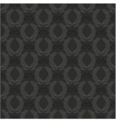 seamless wreath pattern vector image vector image