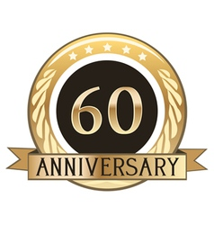 Sixty Year Anniversary Badge vector image vector image