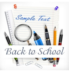 Stationery for school vector image vector image