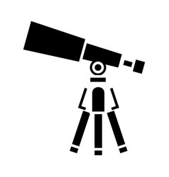 telescope - scope icon black vector image