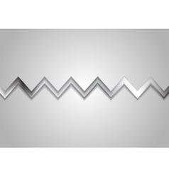 Abstract metallic zig zag stripe background vector image