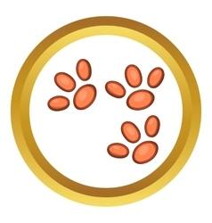 Animal paws icon vector