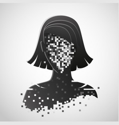 Anonymous icon privacy concept human head vector