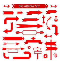 Arrow collection flat design vector image