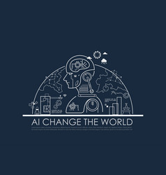 Artificial intelligence ai change world vector