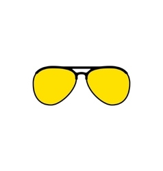 Aviator sunglasses icon vector