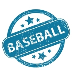 BASEBALL round stamp vector image