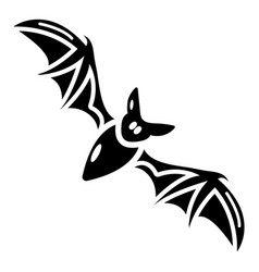 bat icon simple black style vector image