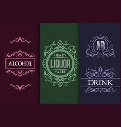 beverage packaging design set alcohol drink vector image