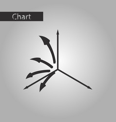black and white style icon arrow chart vector image