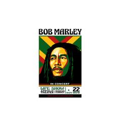 bob marley in concert vector image
