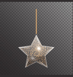 Bright christmas star vector