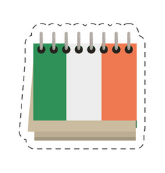 Cartoon calendar date st patricks day icon vector