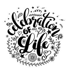 Celebration life vector