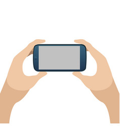 cellphone on hands vector image