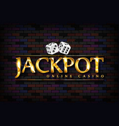 chic casino sign jackpot vector image