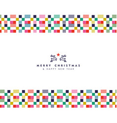 christmas and new year abstract border decoration vector image