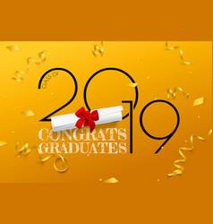 congrats graduates lettering for graduation class vector image