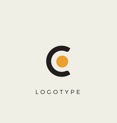 creative letter c for logo and monogram minimal vector image
