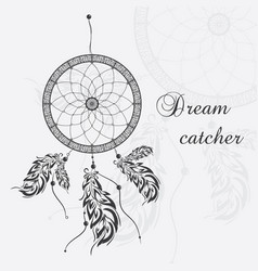 dream catcher white background vector image