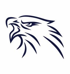 Eagle mascot line logo sports mascot vector