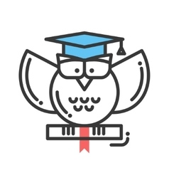 Education flat design single isolated icon vector image
