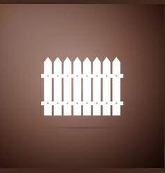 fence icon isolated on brown background vector image