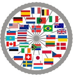 Flags of countries of the Tour de France 2013 vector