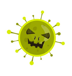flat coronavirus bacterium vector image