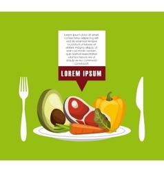 Food infographic presentation vector