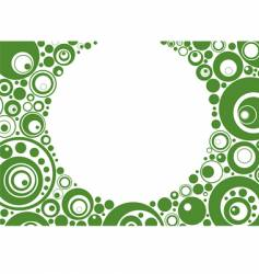 Green circles vector