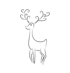 Hand drawn jump deer vector image
