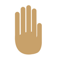 Hand palm human symbol design vector