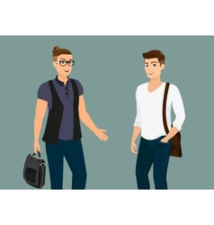 Handsome guys vector image