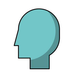head profile isolated icon vector image