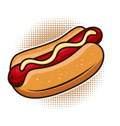 Hot dog isolated on white background design vector