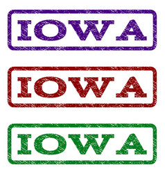 Iowa watermark stamp vector