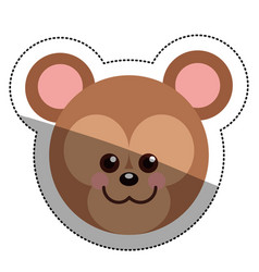 Isolated bear cartoon design vector