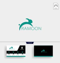 Jumping rabbit or bunny logo template vector